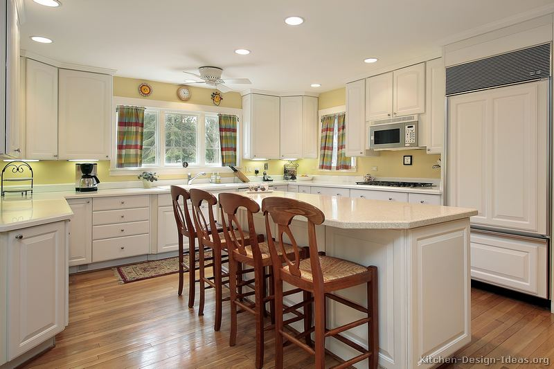Pictures of kitchens traditional white kitchen cabinets page 6 Kitchen design yellow and white