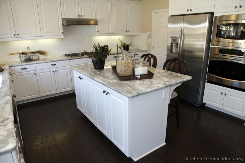 Welcome new post has been published on - White kitchen dark counters ...