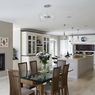 Custom White Kitchen by Woodale Designs