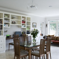 Study Desk in an Open Plan Kitchen - Woodale Designs