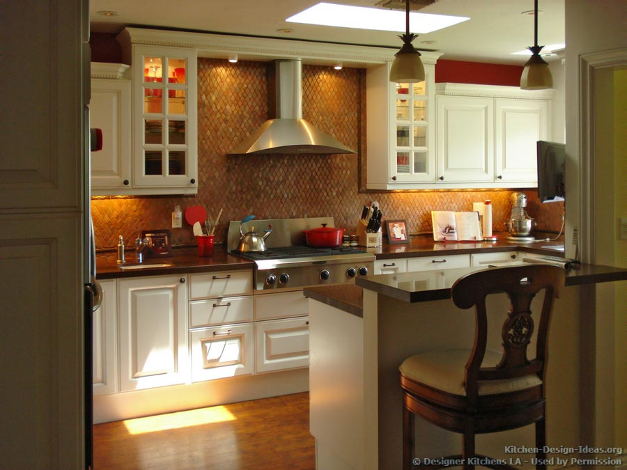 White cabinets diamond tile backsplash designer kitchens la