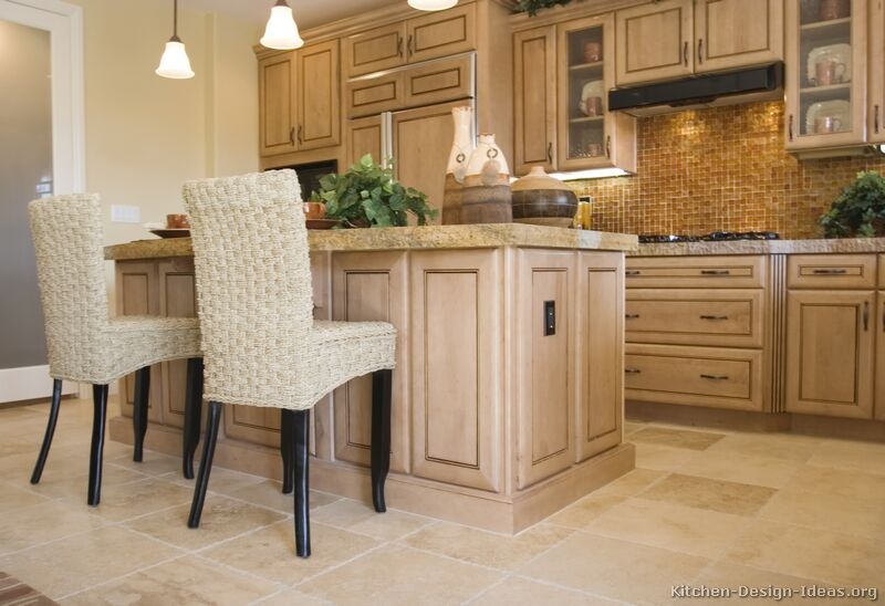 Pictures of kitchens traditional whitewashed cabinets kitchen 1 - Whitewashed oak cabinets ...