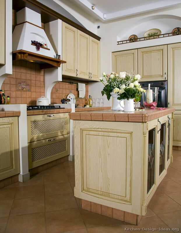 Pictures of Kitchens  Traditional  Whitewashed Cabinets (Kitchen #2)