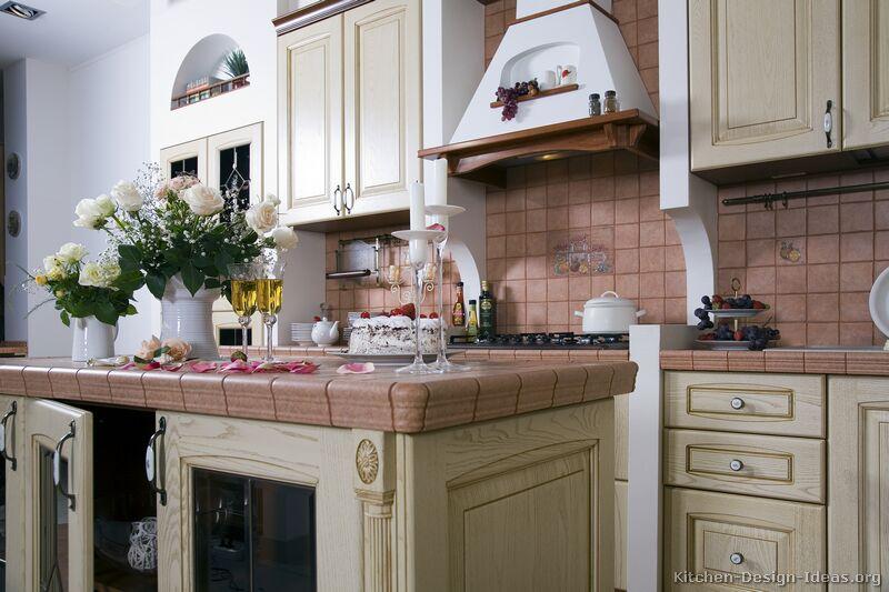 Ornate White Kitchen Cabinets
