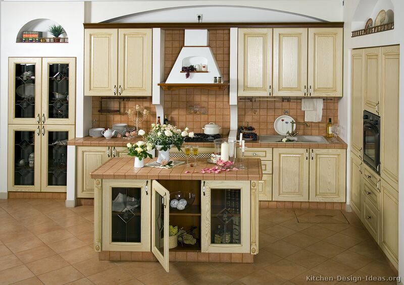 Pictures Of Kitchens Traditional Whitewashed Cabinets Kitchen - Whitewash kitchen cabinets