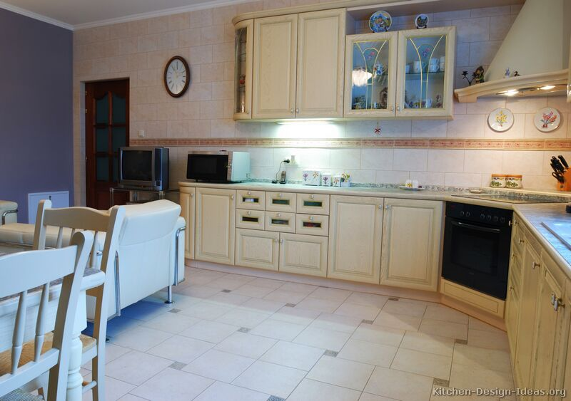 Pictures Of Kitchens Traditional Whitewashed Cabinets Kitchen 3