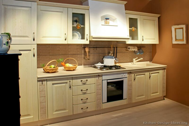 Pictures of Kitchens  Traditional  Whitewashed Cabinets (Kitchen #4)