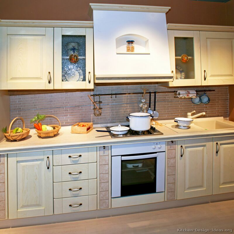 Pictures of kitchens traditional whitewashed cabinets kitchen 4 - Kitchen images with white cabinets ...
