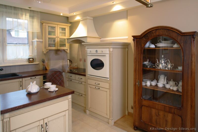 Whitewash Kitchen Cabinets : Pictures of Kitchens - Traditional - Whitewashed Cabinets (Kitchen #6)