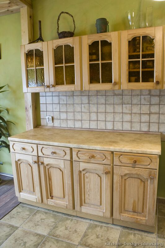 of Kitchens Traditional Whitewashed Cabinets