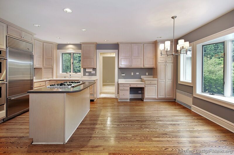 Design In Wood What To Do With Oak Cabinets: Whitewashed Cabinets