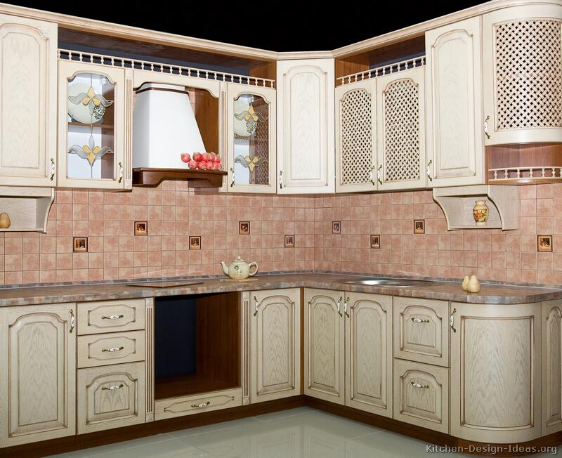 22, Traditional Whitewash Kitchen - Pictures Of Kitchens - Traditional - Whitewashed Cabinets