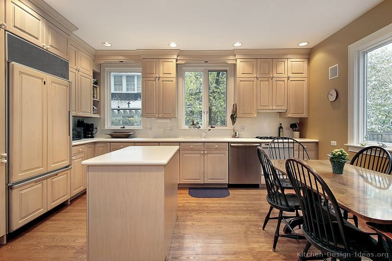 Pictures Of Kitchens Traditional Whitewashed Cabinets - Whitewash kitchen cabinets