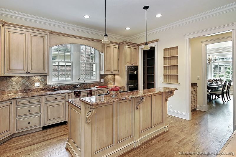 Pictures of kitchens traditional whitewashed cabinets - Whitewashed oak cabinets ...