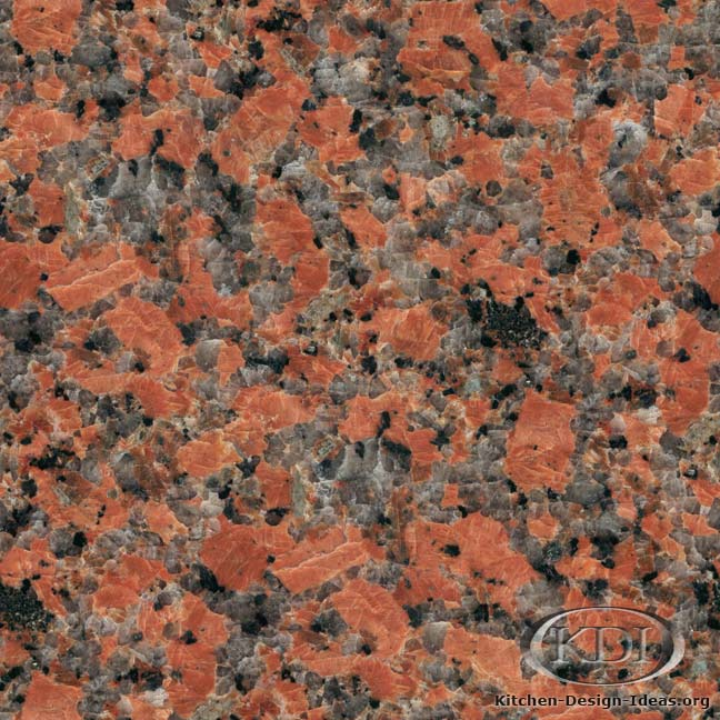 Maple Red Granite Kitchen Countertop Ideas