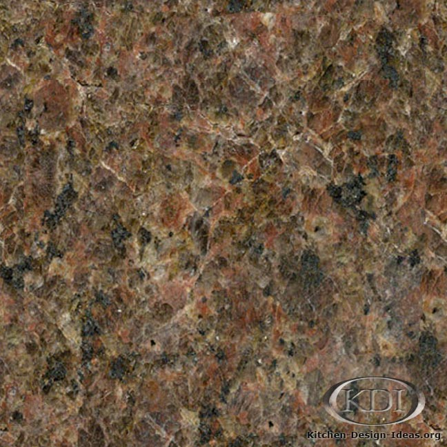 Marron castor granite kitchen countertop ideas for Granito color marron