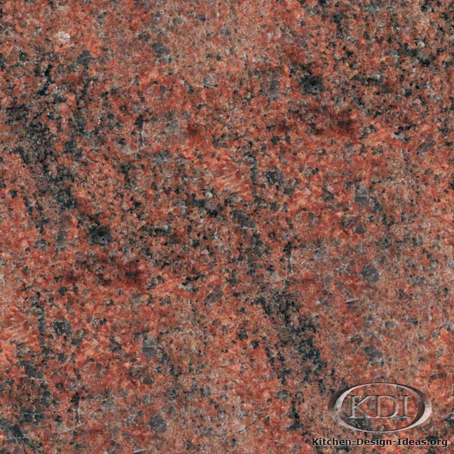 Red Granite Colors : Red multicolor granite kitchen countertop ideas