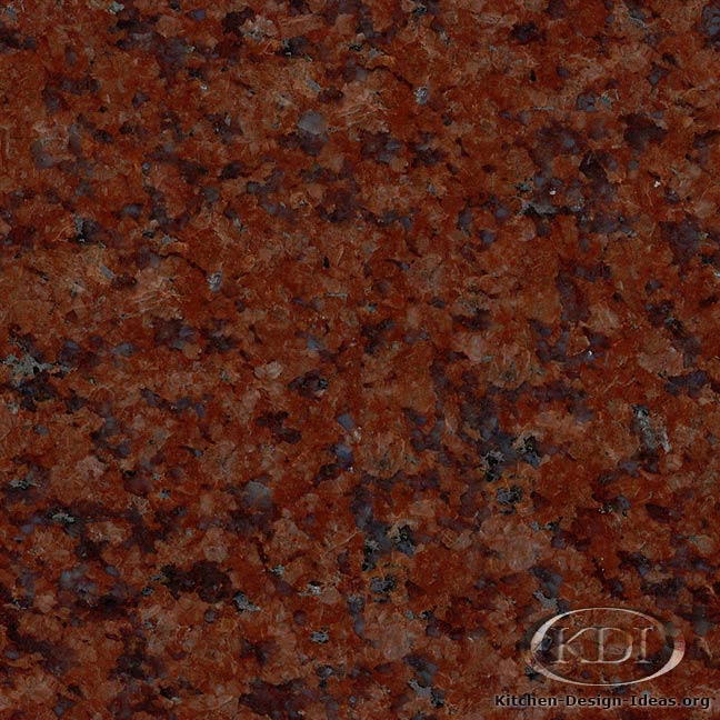 ruby red granite kitchen countertop ideas