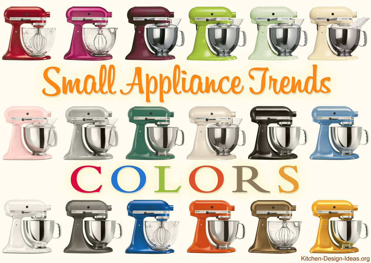 small appliance trends spicing up kitchens with color style