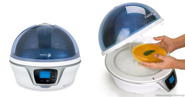 Fagor Spoutnik Microwave with a Spherical Transluscent Top