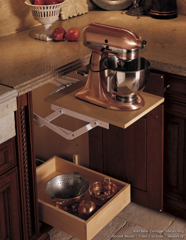 Superbe An Appliance Lift Rises From A Base Cabinet And Locks Into Place While You  Work.