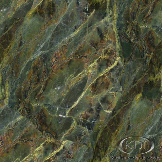 Verde Borgogna Granite Kitchen Countertop Ideas