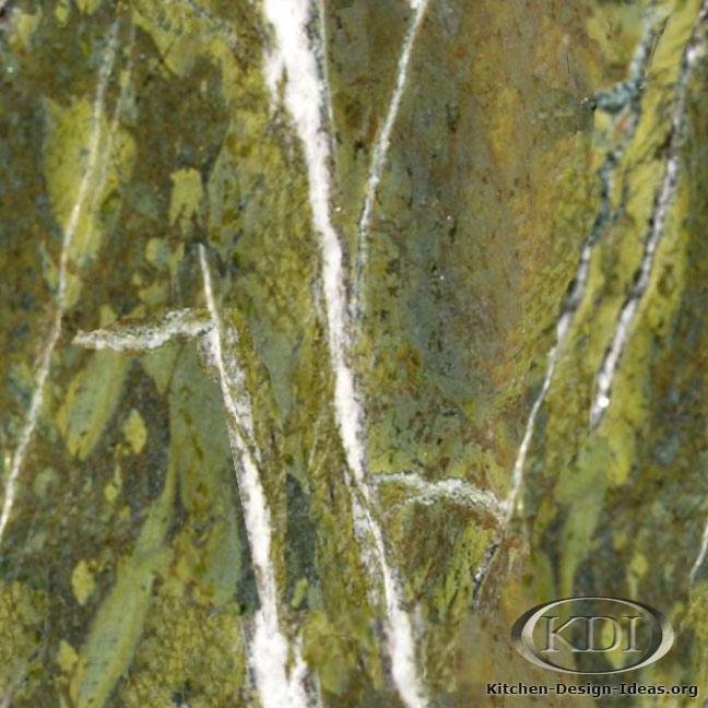 Verde Fantastico Granite Kitchen Countertop Ideas