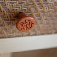 Handwoven Cabinet Panel Inserts and River Clay Knobs by Wabbani